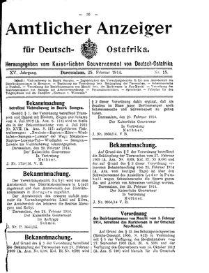 Deutsch-Ostafrikanische Zeitung vom 25.02.1914