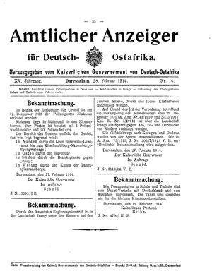 Deutsch-Ostafrikanische Zeitung vom 28.02.1914