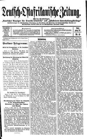 Deutsch-Ostafrikanische Zeitung vom 04.03.1914