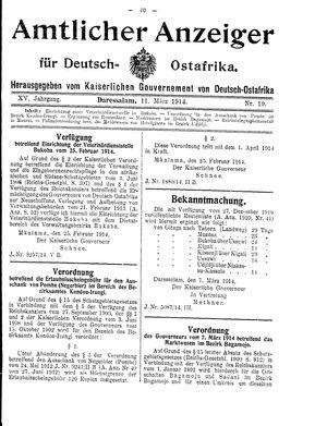 Deutsch-Ostafrikanische Zeitung vom 11.03.1914