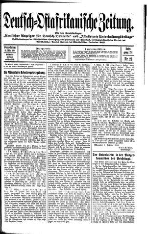 Deutsch-Ostafrikanische Zeitung vom 18.03.1914