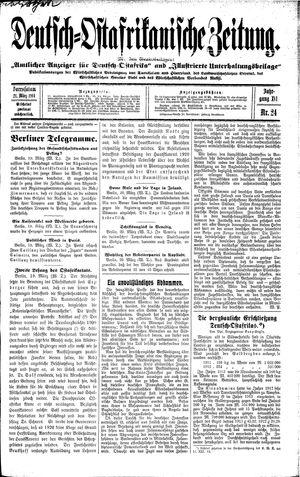 Deutsch-Ostafrikanische Zeitung on Mar 21, 1914