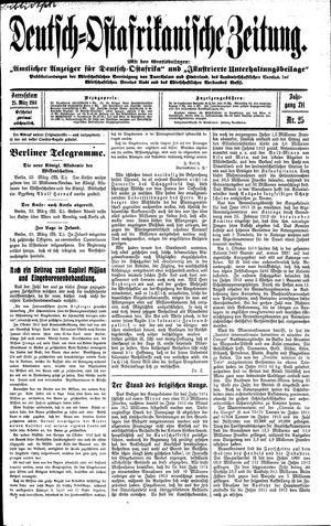 Deutsch-Ostafrikanische Zeitung vom 25.03.1914