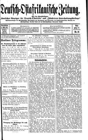 Deutsch-Ostafrikanische Zeitung vom 28.03.1914