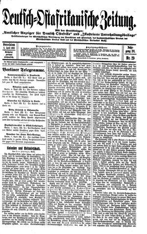 Deutsch-Ostafrikanische Zeitung vom 08.04.1914