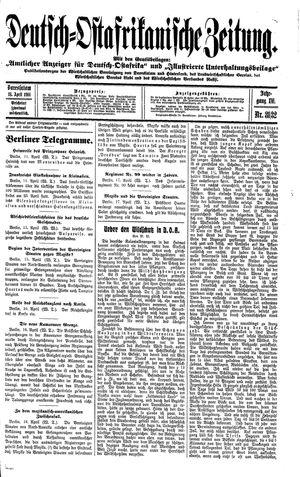 Deutsch-Ostafrikanische Zeitung vom 18.04.1914