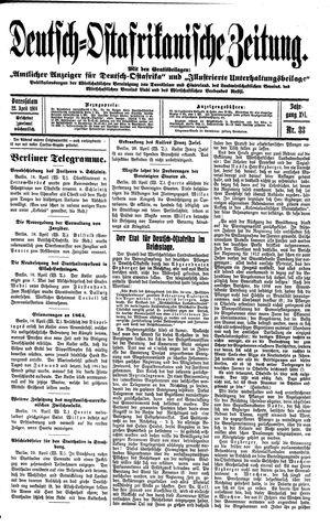 Deutsch-Ostafrikanische Zeitung vom 22.04.1914