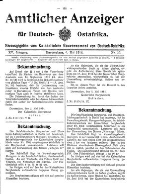 Deutsch-Ostafrikanische Zeitung vom 06.05.1914