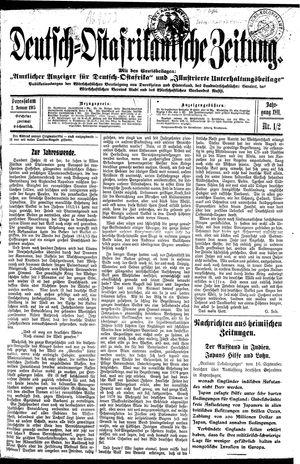 Deutsch-Ostafrikanische Zeitung vom 02.01.1915