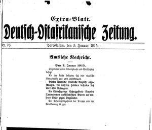 Deutsch-Ostafrikanische Zeitung vom 05.01.1915