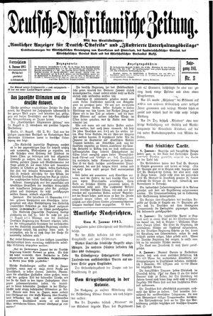 Deutsch-Ostafrikanische Zeitung vom 06.01.1915