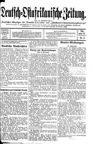 Deutsch-Ostafrikanische Zeitung on Jan 9, 1915