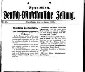 Deutsch-Ostafrikanische Zeitung vom 11.01.1915