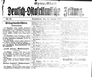 Deutsch-Ostafrikanische Zeitung vom 12.01.1915