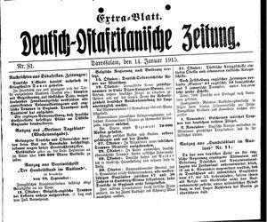 Deutsch-Ostafrikanische Zeitung vom 14.01.1915
