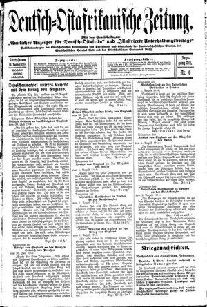 Deutsch-Ostafrikanische Zeitung vom 16.01.1915