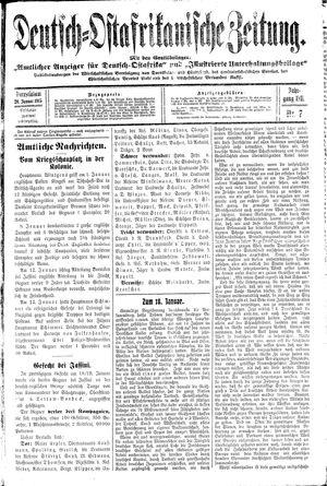 Deutsch-Ostafrikanische Zeitung vom 20.01.1915