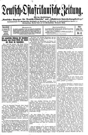 Deutsch-Ostafrikanische Zeitung vom 06.02.1915