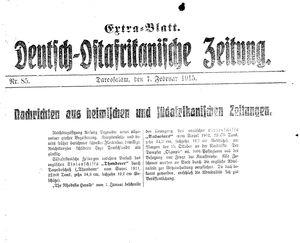 Deutsch-Ostafrikanische Zeitung vom 07.02.1915