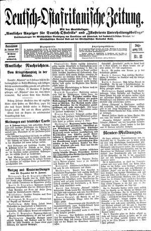 Deutsch-Ostafrikanische Zeitung vom 10.02.1915