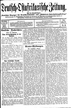 Deutsch-Ostafrikanische Zeitung vom 13.02.1915