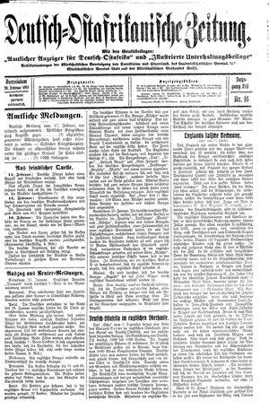 Deutsch-Ostafrikanische Zeitung vom 20.02.1915