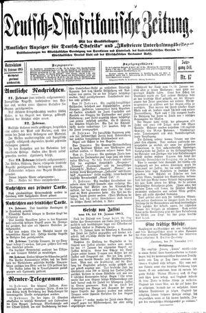 Deutsch-Ostafrikanische Zeitung vom 24.02.1915