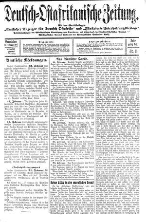 Deutsch-Ostafrikanische Zeitung vom 27.02.1915