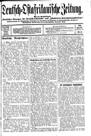 Deutsch-Ostafrikanische Zeitung vom 10.03.1915