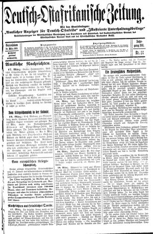Deutsch-Ostafrikanische Zeitung vom 20.03.1915