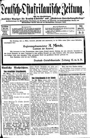Deutsch-Ostafrikanische Zeitung vom 24.03.1915