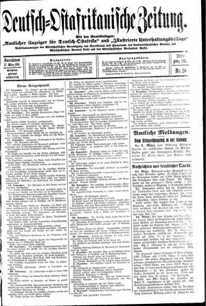 Deutsch-Ostafrikanische Zeitung vom 27.03.1915
