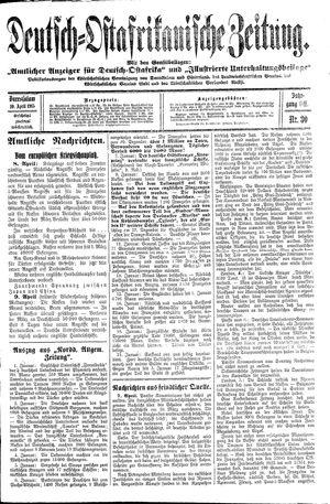 Deutsch-Ostafrikanische Zeitung vom 10.04.1915