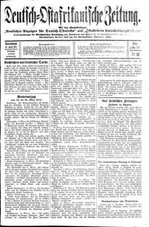 Deutsch-Ostafrikanische Zeitung vom 17.04.1915
