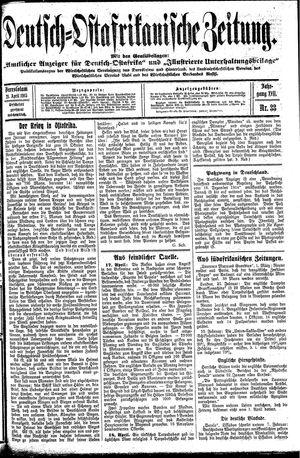 Deutsch-Ostafrikanische Zeitung vom 21.04.1915