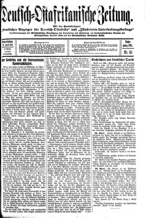 Deutsch-Ostafrikanische Zeitung vom 28.04.1915