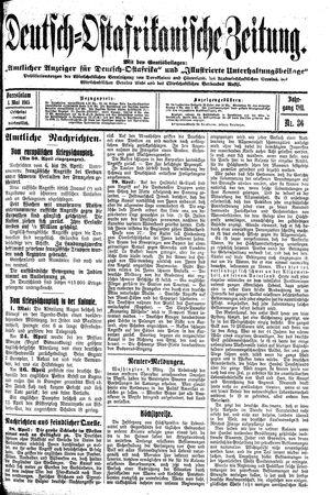 Deutsch-Ostafrikanische Zeitung vom 01.05.1915