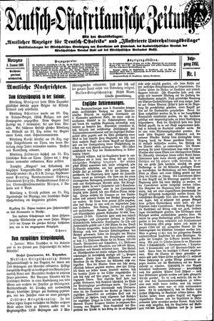 Deutsch-Ostafrikanische Zeitung vom 04.01.1916