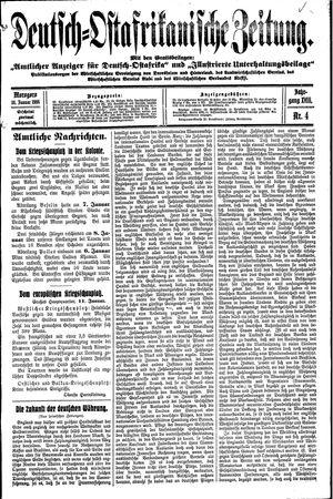 Deutsch-Ostafrikanische Zeitung vom 14.01.1916