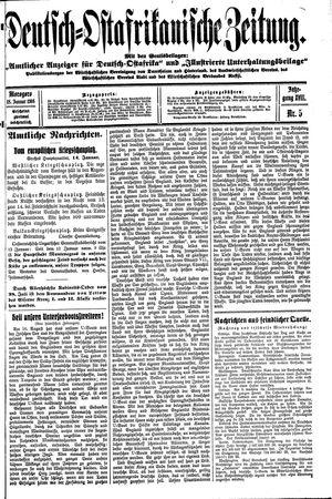 Deutsch-Ostafrikanische Zeitung vom 18.01.1916