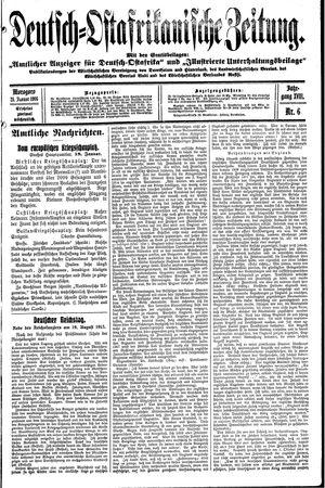 Deutsch-Ostafrikanische Zeitung on Jan 21, 1916