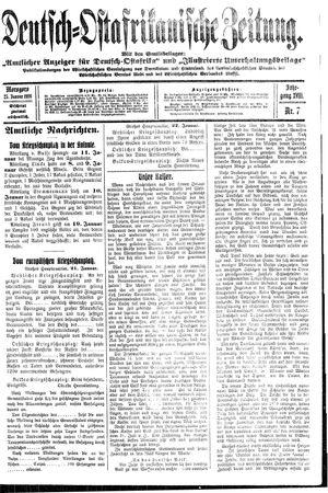 Deutsch-Ostafrikanische Zeitung vom 25.01.1916