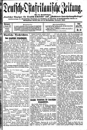 Deutsch-Ostafrikanische Zeitung vom 04.02.1916