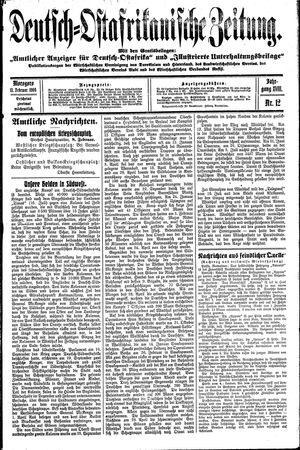 Deutsch-Ostafrikanische Zeitung vom 11.02.1916