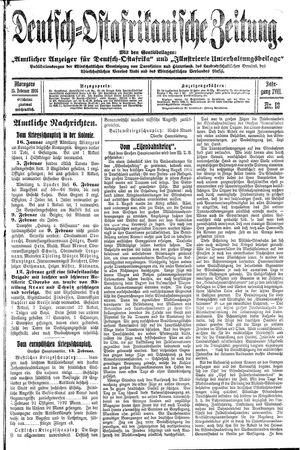Deutsch-Ostafrikanische Zeitung on Feb 15, 1916
