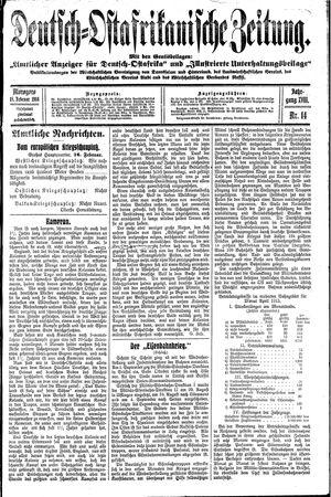Deutsch-Ostafrikanische Zeitung vom 18.02.1916