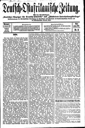 Deutsch-Ostafrikanische Zeitung vom 25.02.1916