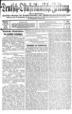 Deutsch-Ostafrikanische Zeitung vom 03.03.1916