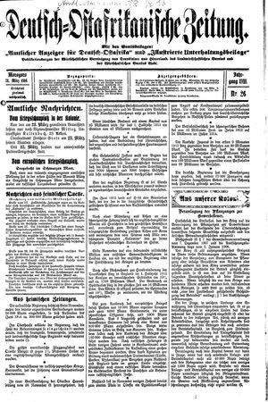 Deutsch-Ostafrikanische Zeitung vom 31.03.1916