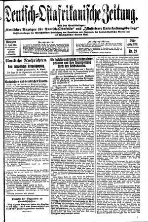 Deutsch-Ostafrikanische Zeitung vom 11.04.1916